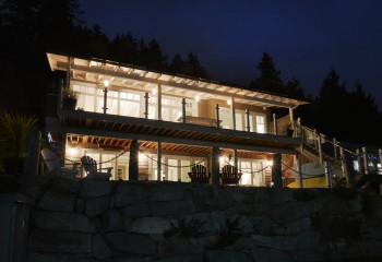 Soames Point Residence, a hillside home and residential architecture design project designed by Karl Gustavson Architect based in West Vancouver, Canada.