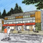 Ambleside WV West Van Florist, a commercial architecture design project designed by Karl Gustavson Architect based in West Vancouver, Canada.